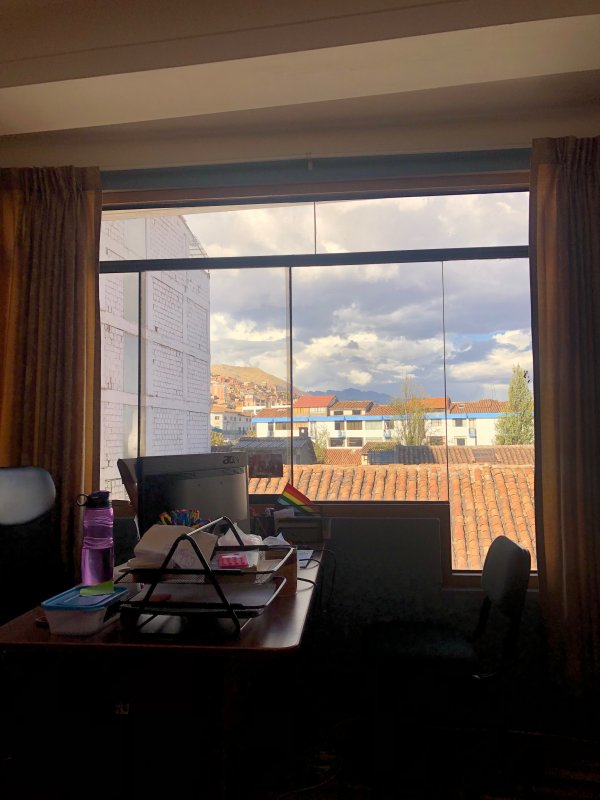 View from the cusco office
